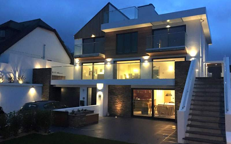 Lighting new build by Luxplan
